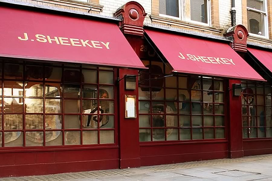 Victorian Awning for J.Sheekey Oyster Bars by Morco Awnings & Blinds