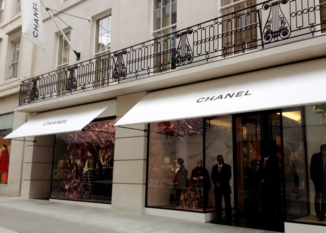 Greenwich awnings for the Chanel Flagship store in London