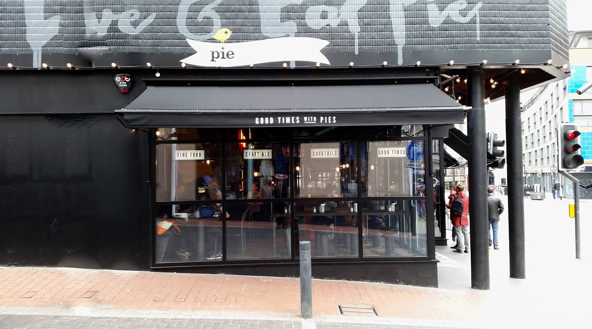 Pieminister contract awnings