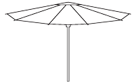 classic parasol line drawing