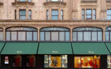 Victorian awnings at Harrods by Morco